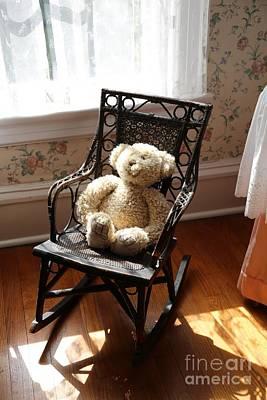 Photograph - Teddy In Old Fashioned Rocker by Carol Groenen