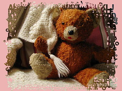 Photograph - Teddy In Pink by Marilyn Smith