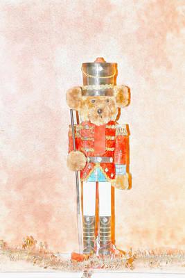 Teddy Nutcracker Art Print