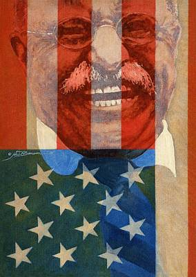Painting - Teddy Roosevelt by John D Benson