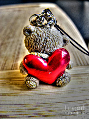 Photograph - Teddy With Big Red Heart  by Nina Ficur Feenan