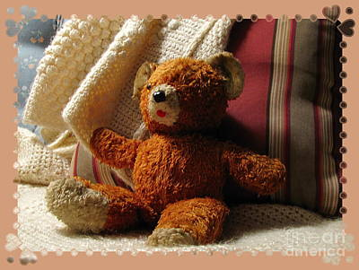 Photograph - Teddy With Hearts by Marilyn Smith
