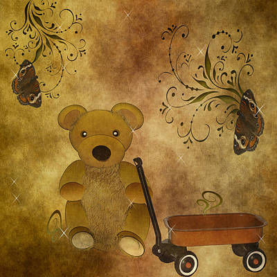 Digital Art - Teddybear Dreams by TnBackroadsPhotos