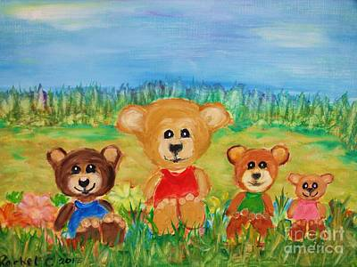 Painting - Teddybears Day Out by Rachel Carmichael