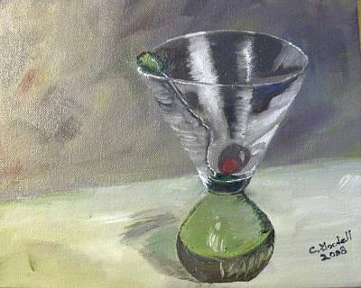 Martini Paintings - Tee Many Martoonies by Claudia Goodell