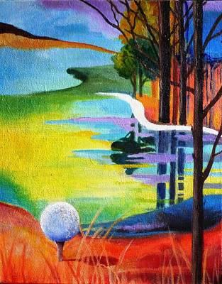 Tee Off Mindset- Golf Series Art Print by Betty M M   Wong