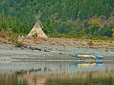 Photograph - Tee Pee At River Bend  by Gracia  Molloy
