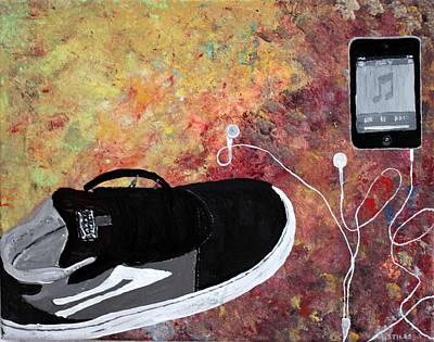 Music Ipod Painting - Teenage Floor by Mark Stiles