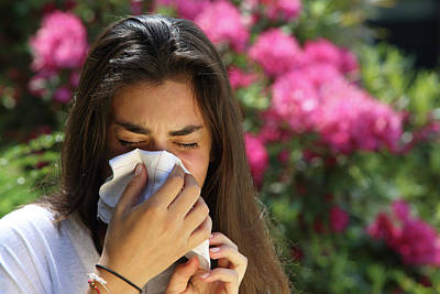 Handkerchief Photograph - Teenage Girl With Hayfever by Mauro Fermariello