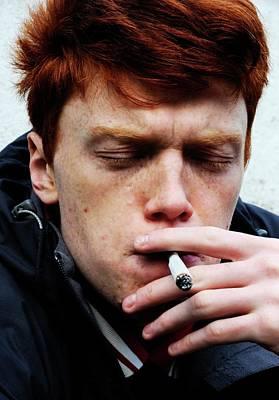 Teenager Smoking Art Print