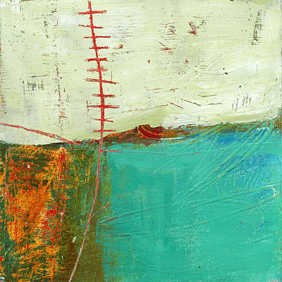 Grid Painting - Teeny Tiny Art 112 by Jane Davies