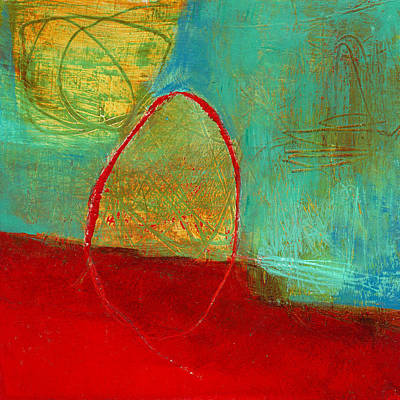 Grid Painting - Teeny Tiny Art 115 by Jane Davies