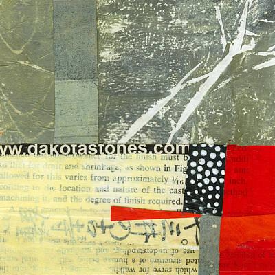 Acrylic Collage Painting - Teeny Tiny Art 119 by Jane Davies