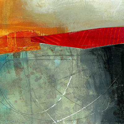 Abstract Collage Painting - Teeny Tiny Art 71 by Jane Davies