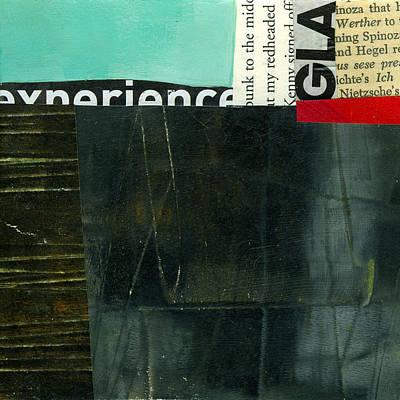 Abstract Landscape Painting - Teeny Tiny Art 74 by Jane Davies
