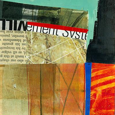 Grid Painting - Teeny Tiny Art 75 by Jane Davies