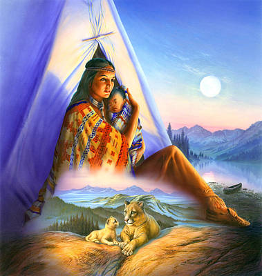 Teepee Of Dreams Art Print by Andrew Farley