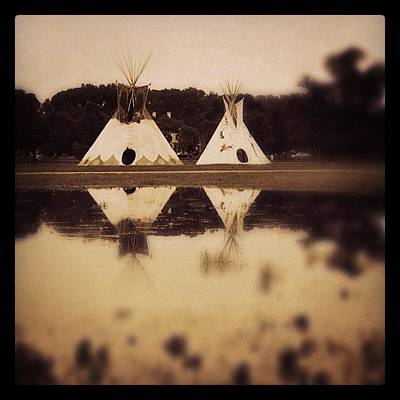Landmarks Wall Art - Photograph - Teepees In Town  by Heidi Hermes