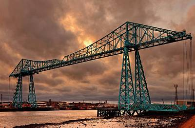 Tees Transporter Bridge At Sunset Art Print