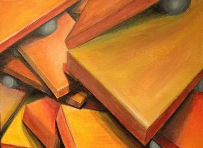 Autism Painting - Teetering Man by D August