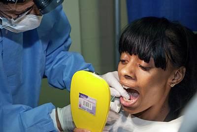 Wayne County Photograph - Teeth Flossing Training by Jim West