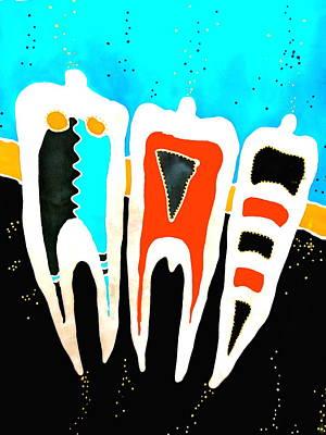 Wall Art - Painting - Teeth by Jakki Moore
