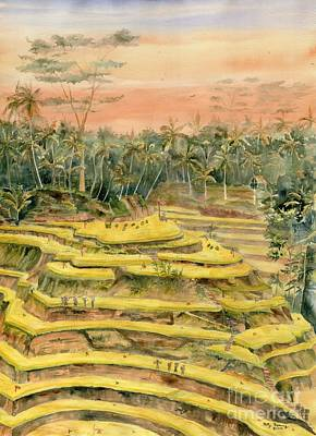 Painting - Tegallalang Rice Terraces by Melly Terpening