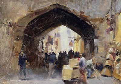 Tehran Bazaar, 1994 Oil On Canvas Art Print by Trevor Chamberlain