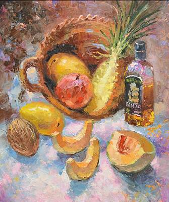 Art Print featuring the painting Tekila And Mango by Dmitry Spiros