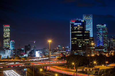 Photograph - Tel Aviv At Night by David Morefield
