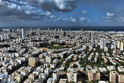 Art Print featuring the photograph Tel Aviv Center by Ron Shoshani