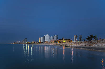 Photograph - Tel Aviv The Blue Hour by Ron Shoshani