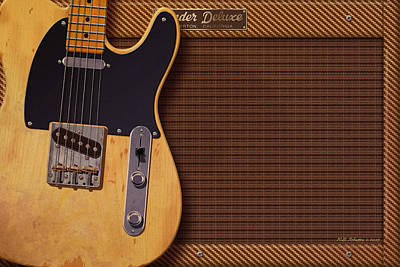Telecaster Deluxe Art Print by WB Johnston
