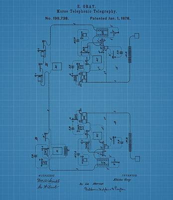 Code Mixed Media - Telegraph Blueprint Patent by Dan Sproul