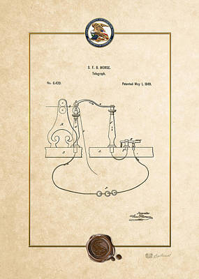 Digital Art - Telegraph By S.f.b. Morse - Vintage Patent Document by Serge Averbukh