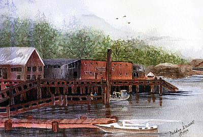 Telegraph Cove Art Print by Meldra Driscoll