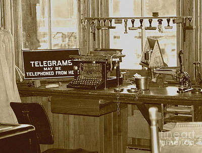 Rubber Stamps Photograph - Telegraph Office by Jan Tyler
