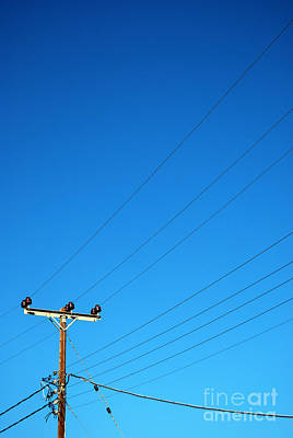 Telegraph Pole Art Print by Antony McAulay