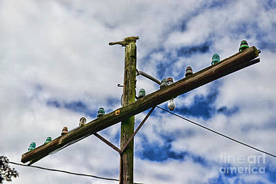 Telephone Poles Photograph - Telegraph Pole - Yesterdays Technology by Paul Ward