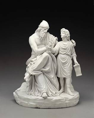Ceramics Photograph - Telemachus And Mentor. 1770. Made by Everett