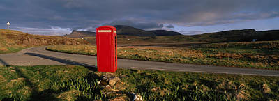 Telephone Booth In A Landscape, Isle Of Art Print