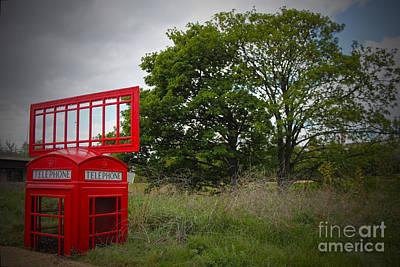 Stratford City Photograph - Telephone Box Stratford by Roger Lighterness