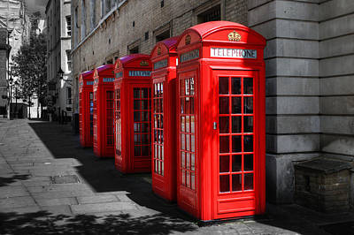 Photograph - Telephone Boxes by Chris Day