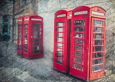 Telephone Boxes Art Print by Colin Dewar