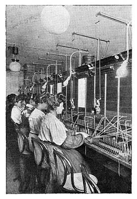 Telephone Operators Art Print