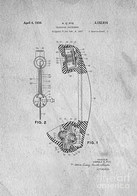 Graduation Gifts Drawing - Telephone Patent Art by Edward Fielding