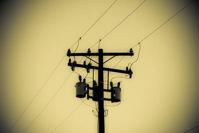 Duo Tone Photograph - Telephone Pole 1 by Scott Campbell