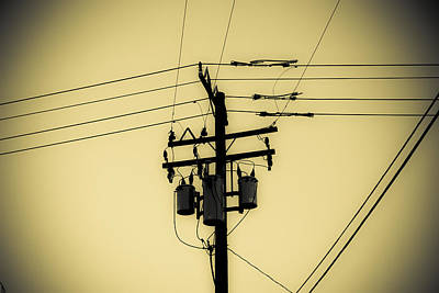 Duo Tone Photograph - Telephone Pole 4 by Scott Campbell