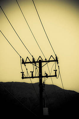 Duo Tone Photograph - Telephone Pole 6 by Scott Campbell