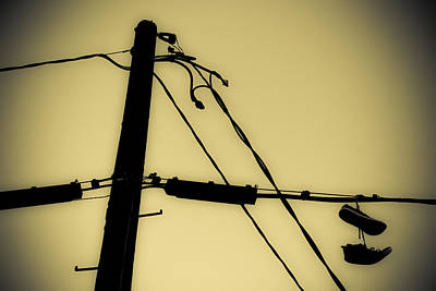 Photograph - Telephone Pole And Sneakers 2 by Scott Campbell